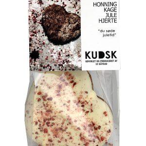 Honningkage julehjerte hvid chokolade - Kudsk
