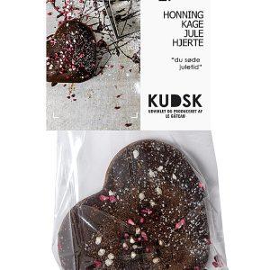 Honningkage julehjerte mørk - Kudsk