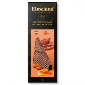 Plade lys økologisk chokolade med fransk nougat