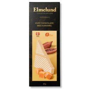 Økologisk hvid chokolade med karamel