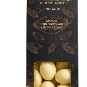 Mandler med hvid chokolade kokos og lemon