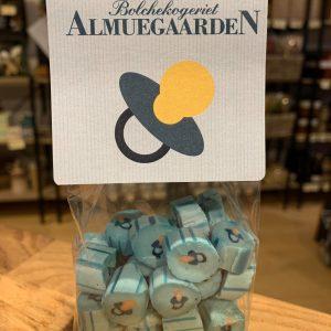 Blå sut bolcher fra AlmueGaarden