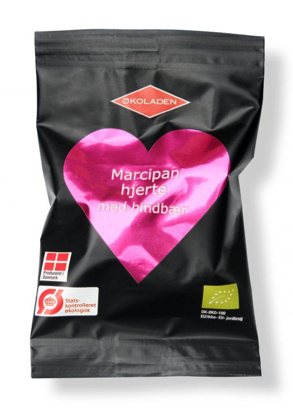 Økologisk Elmelund hindbær marcipanhjerte