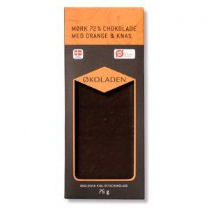 Mørk chokolade m. orange og knas - Økoladen