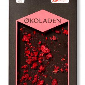Økologisk mørk chokolade m. hindbær - Økoladen